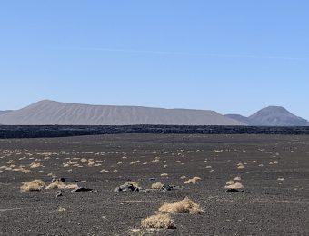 White & black volcano
