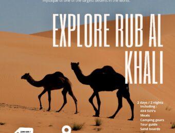Empty Quarter desert trip (November package)